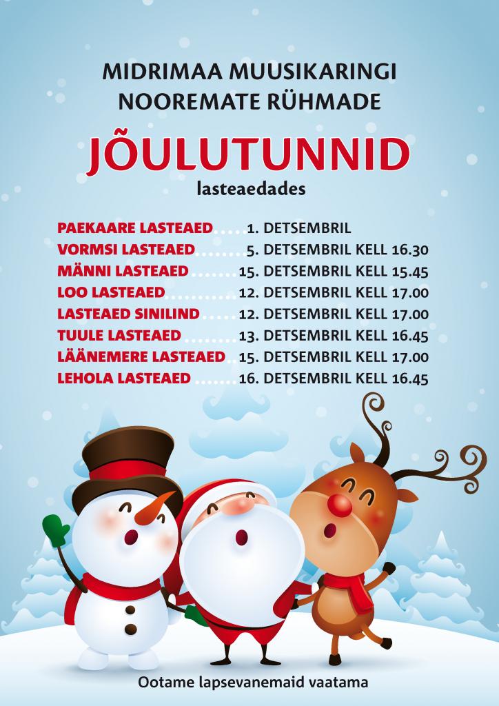 Muusika jõulutunnid 2016