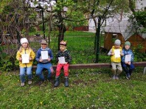 Kullerkupu Lasteaia trennilapsed